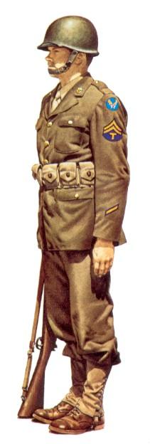 Uniforme americain de la 2eme guerre mondial le blog de toutes notre technician 5th grade porte la tenue de catgorie a accompagne du casque dacier et du fusil springfield m 1903 loccasion dune prise darmes altavistaventures Choice Image